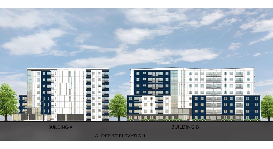 Rutledge Place Apartments - Alder St. Building Rendering