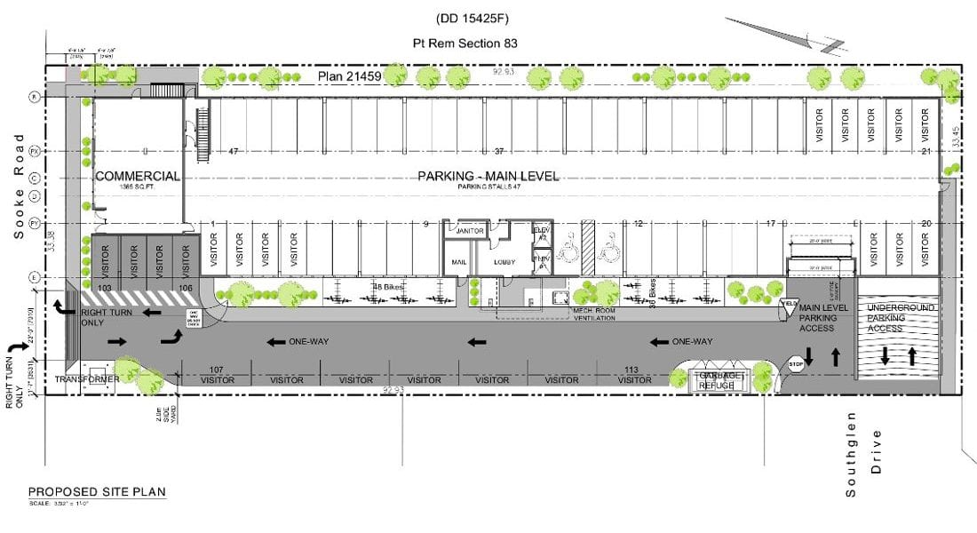 Sooke Rd. Apartments - Parking Plans