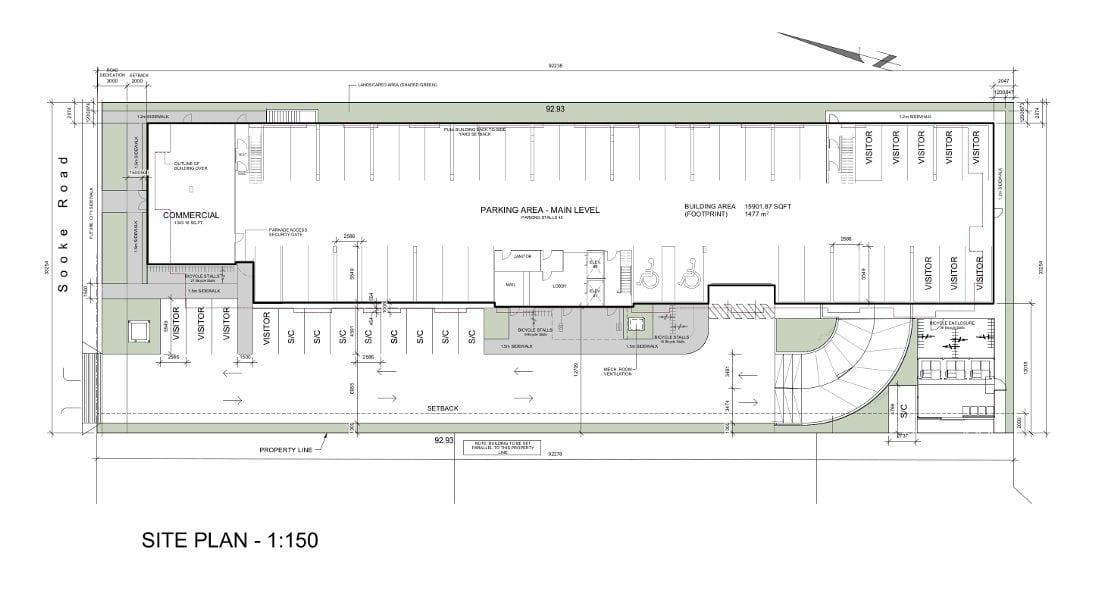 Sooke Road Apartments - Site Plan