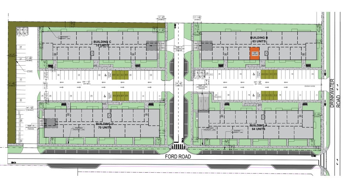 Drinkwater Apartments - Site Plan